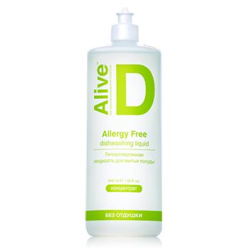 Alive D Гипоаллергенная жидкость для мытья посуды (Alive D Allergy-free dishwashing liquid)