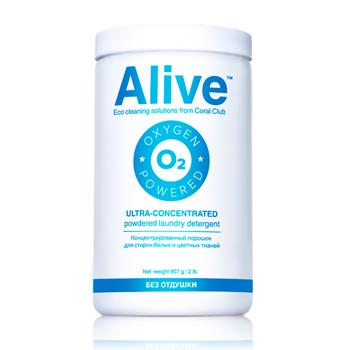 Alive Концентрированный порошок для стирки белых и цветных тканей (Alive Ultra-concentrated powdered laundry detergent)