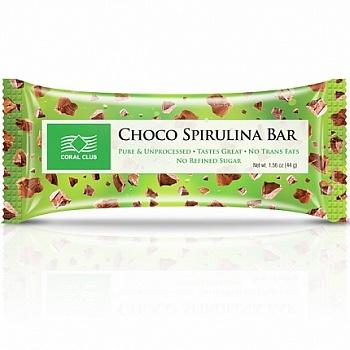 Батончик «Шоко со спирулиной» (Choco Spirulina Bar)