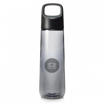 Бутылка для воды Coral Bottle Aura 750 черная (Coral Water Bottle Delta 750 Aura, Black)